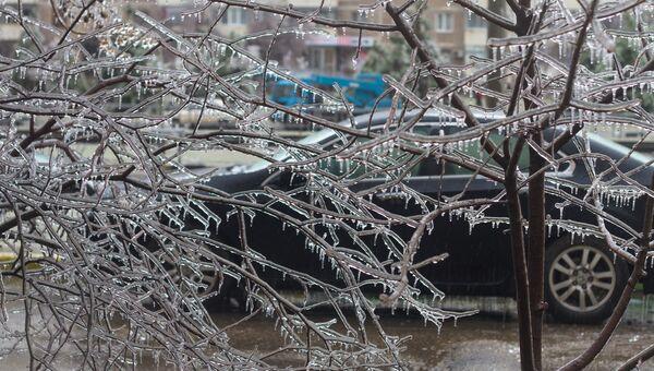 Последствия ледяного дождя в Краснодаре