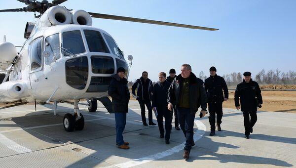 Дмитрий Рогозин встретился со строителями космодрома Восточный