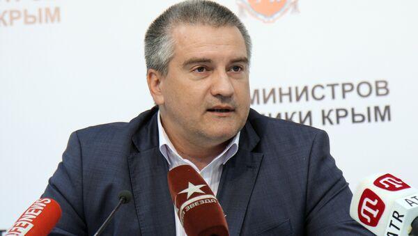 Пресс-конференция Сергея Аксенова по итогам выборов в Госсовет Крыма