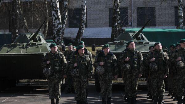 Отправка украинских пограничников на границу с Россией