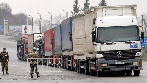 Работа таможенных и пограничных служб Украины на границе Украины с Россией