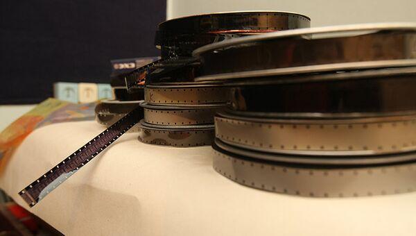 Катушки с кинопленкой в Западно-Сибирской киностудии в Новосибирске